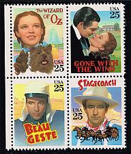 Buy US #2445-2448 Classic Films Block of 4; MNH (5.00) (4Stars) |USA2448a-04