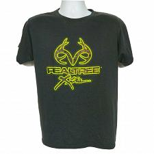 Buy Realtree Xtra Spellout T-Shirt Size Medium Gray Yellow Camo Deer Antlers