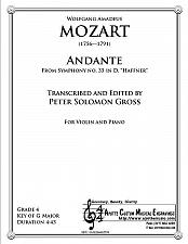 Buy Mozart - Andante from the Haffner Symphony for Violin and Piano