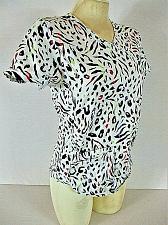 Buy SCRUBSTAR womens XS S/S white black pink purple 3 POCKET scrub top (K)
