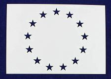 "Buy 13 Star Field Stencil 14 Mil-G-Spec -9.88""L - Painting /Crafts/ Templates"