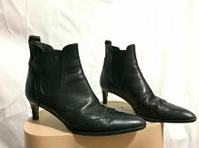 Buy RALPH LAUREN /Made in Italy Womens Black Ankle Leather Boots Sz 5 1/2 B