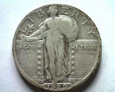 Buy 1929-S STANDING LIBERTY QUARTER FINE F NICE ORIGINAL COIN BOBS COINS FAST SHIP