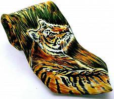 Buy World Wildlife Fund WWF Men's Dress Necktie 100% Silk Tigers Big Cats Necktie