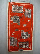 Buy Red LINEN Tea Towel New Orleans Suzanne Meister Decatur St French Market