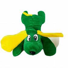 "Buy Six Flags Texas Green Yellow Dog Puppy Plush Stuffed Animal 9.5"""
