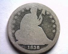 Buy 1838 LARGE STARS SEATED LIBERTY DIME FAIR FR ORIGINAL COIN BOBS COINS FAST SHIP