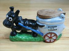 Buy Vintage Porcelain Donkey Ashes Lid Cart Figural Ashtray Snuffer Japan LUSTREWARE
