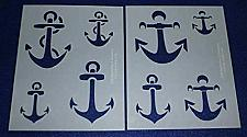 """Buy Mylar 2 Pieces of 14 Mil 8"""" X 10"""" Anchor Stencils- Painting /Crafts/ Templates"""