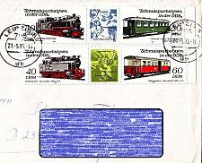 Buy GERMANY DDR [1984] MiNr 2864-67 Zdr ( Brief ) [01] Eisenbahn