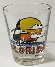 "Buy Florida Sailboat Sunset 2.25"" Collectible Shot Glass"