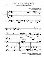 Buy Bach - Fugue No. 4 in C# Minor (WTC Book 2) for Clarinet Trio