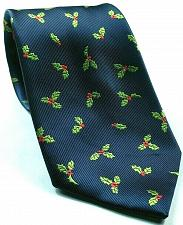 Buy Christmas Holly Print Holiday Blue Green Red Novelty Tie