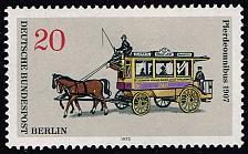 Buy Germany #9N335 Horse-Drawn Streetcar; Unused (2Stars) |DEU9N335-01XRS