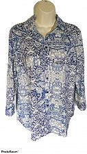 Buy White Stag Women's Small Blue & White Paisley Long Sleeve Blouse