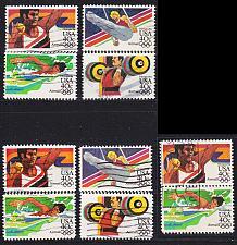 Buy USA [1983] MiNr 1622-25 ( O/used ) [01] Olympiade Satz A, Satz F, Zdr