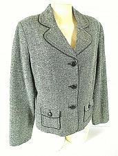 Buy APT 9 womens Sz 16 L/S gray TWEED button down fully LINED jacket (B2)P