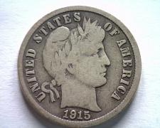 Buy 1915-S BARBER DIME VERY GOOD+ VG+ NICE ORIGINAL COIN FROM BOBS COINS FAST SHIP