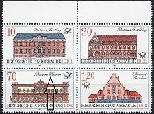 Buy GERMANY DDR [1987] MiNr 3067-70 4er I ( **/mnh ) Bauwerke Plattenfehler
