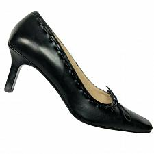 Buy Coach Womens Casandra Black Leather Square Toe Pump Heels with Bow Size 8.5 B