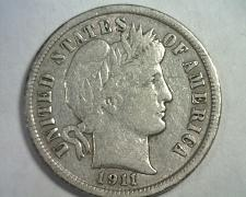 Buy 1911 BARBER DIME EXTRA FINE+ XF+ EXTREMELY FINE+ EF+ ORIGINAL COIN BOBS COINS