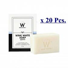 Buy 20xGLUTA SOAP WINK WHITE FACIAL BODY WHITENING BRIGHTENING CLEANSING SOAP 80G.