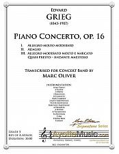 Buy Grieg - Piano Concerto in A Minor (Concert Band Transcription) 3 Movement Set