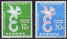 Buy GERMANY Saar [1957] MiNr 0439-40 ( **/mnh ) CEPT