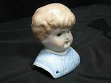 Buy Vintage Bisque Porcelain Doll Head & Shoulders Glass Eyes 3.25 inches tall NOS