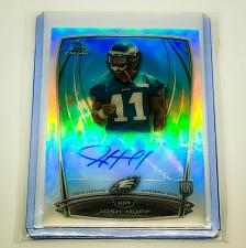 Buy NFL JOSEPH HUFF EAGLES AUTOGRAPHED 2014 BOWMAN CHROME ROOKIE REFRACTOR MNT