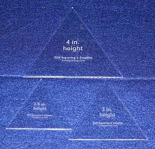 "Buy 3 Piece Set 1/8"" Equilateral Sizes. You Get One of Each, 2 1/2"", 3"", 4"""