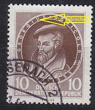 Buy GERMANY DDR [1955] MiNr 0497 F41 ( OO/used ) Plattenfehler