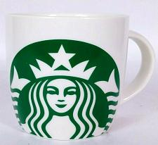 Buy Starbucks Mermaid Logo Coffee Mug Cup Green and White 14 oz 2017
