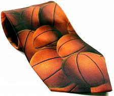 Buy Ralph Marlin Basketball Just Balls Sport Orange Men's Necktie Novelty