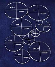 """Buy Circle Template 9 Piece Set - Clear 1/4"""" Thick Acrylic-Quilting"""