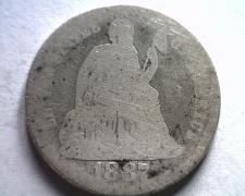 Buy 1887 SEATED LIBERTY DIME ABOUT GOOD / GOOD AG/G BOBS COINS FAST SHIPMENT