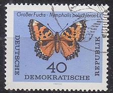Buy GERMANY DDR [1964] MiNr 1008 ( O/used ) Schmetterlinge
