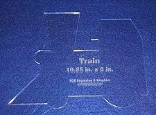 """Buy Train Engine 10.25""""l X 8"""" H - Clear ~1/4"""" Thick Acrylic"""
