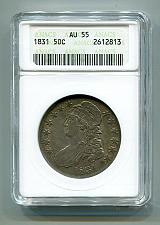 Buy 1831 BUST HALF DOLLAR ANACS AU 55 O.106 NICE ORIGINAL COIN FROM BOBS COINS