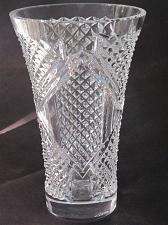 Buy Hand cut glass vase, 24% lead crystal Great gift or award customize