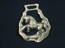 Buy Vintage Rearing Horse Medallion Harness Horse Brass Made In England