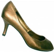 Buy Dressbarn Women's Bronze Peep Toe Kitten Heel Dress Pumps Size 8 M