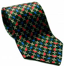 Buy Countess Mara For Lord & Taylor Floral Black Red Blue Men's 100% Silk Necktie