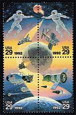 Buy US #2634a Space Accomplishments Block of 4; MNH (2.40) (4Stars) |USA2634a-04XVA+