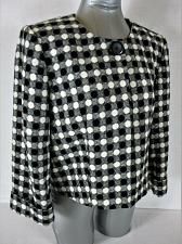 Buy LARRY LEVINE womens Sz 12 L/S black white FULLY lined WOOL BLEND jacket (A4)