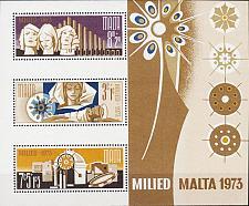 Buy MALTA [1973] MiNr 0478-80 Block 3 ( **/mnh ) Weihnachten