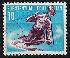 Buy LIECHTENSTEIN [1955] MiNr 0334 ( O/used ) Sport