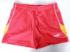 Buy Puma Women's Athletic Shorts Small Red Orange Solid Drawstring Stretch