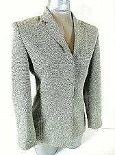 Buy LARRY LEVINE womens Sz 4P L/S gray HIDDEN button down RAYON blend jacket (B3)P
