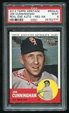 Buy 2012 TOPPS HERITAGE REAL ONE RED AUTO JOE CUNNIGHAM PSA 9 MINT (25752777)